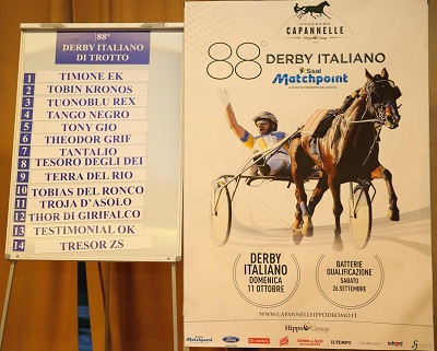 Partenti Derby Trotto 2015